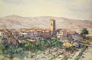Edward Darley Boit Poppi in the Casentino Tuscany