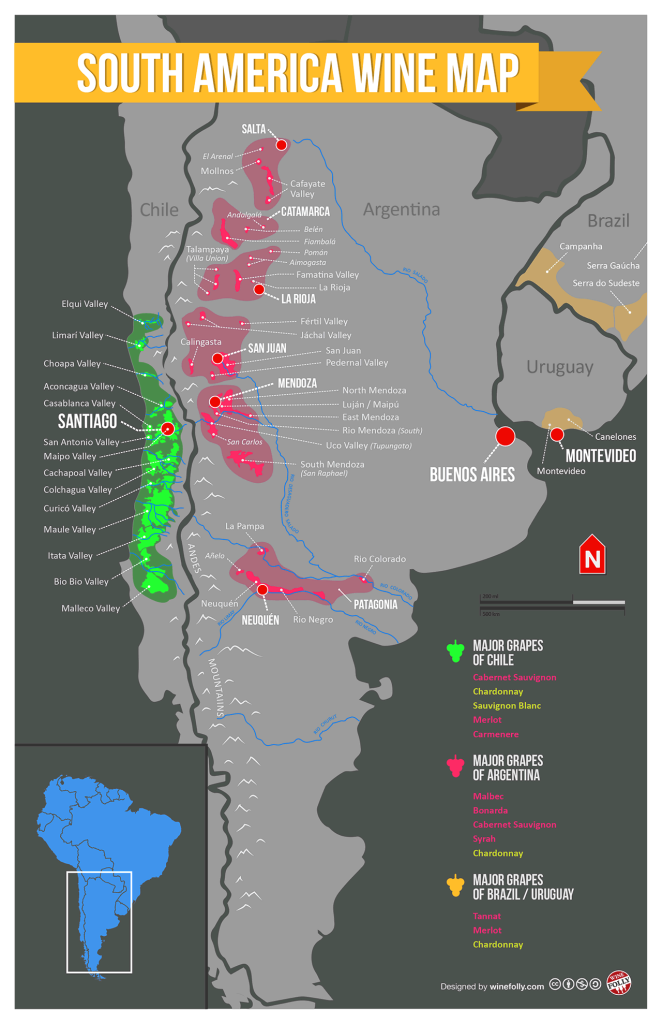 South-America-Wine-Map