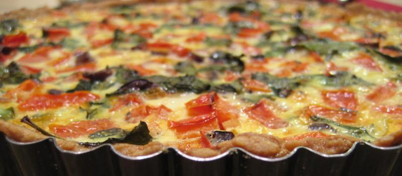 Tarta z pomidorami i serem mozarella