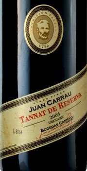 Tannat z winnic Carrau