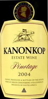 Pinotage od Kanonkop z 2004 roku
